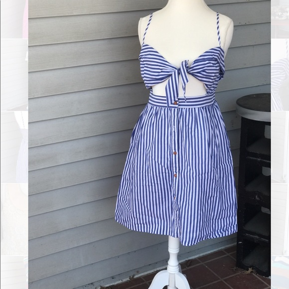 89b0c073fa702 SHEIN Dresses | Cut Out Striped Summer Dress | Poshmark